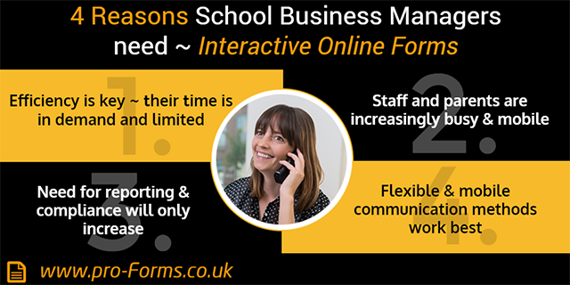 Benefits of Interactive Online Forms for School Business Managers