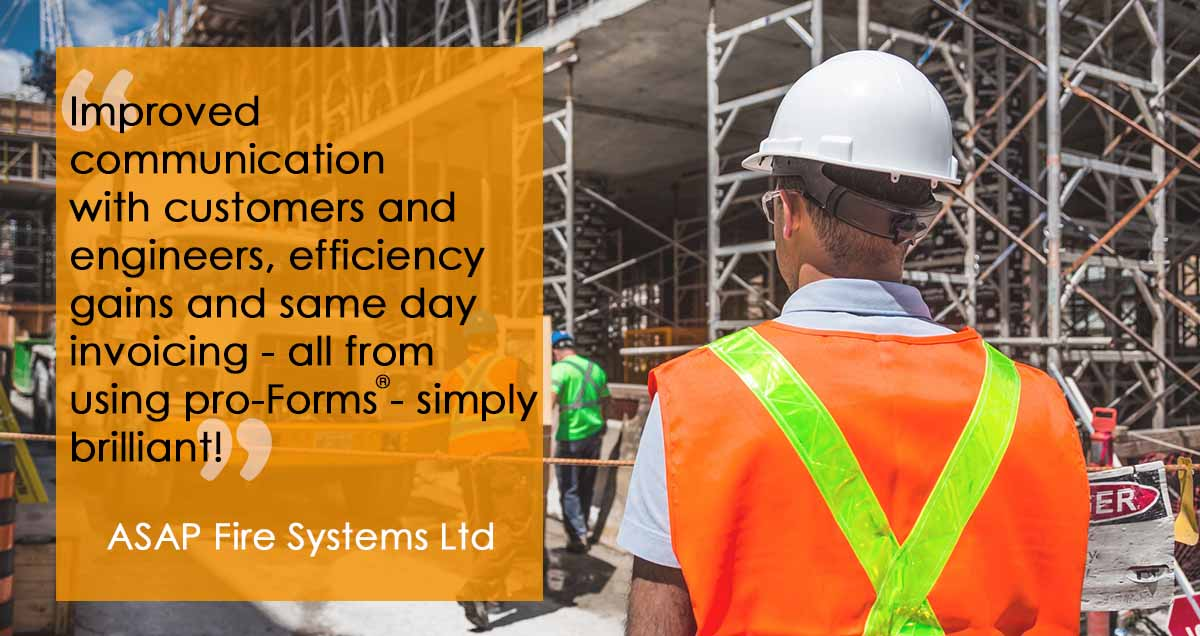 Improved communication with customers and engineers, efficiency gains and same day invoicing