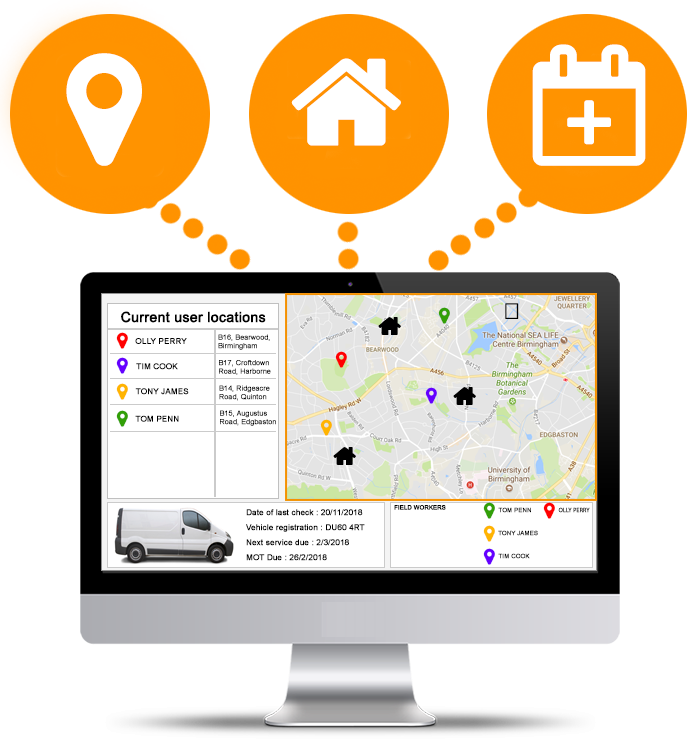 Locate, map and track the job progress of your remote workforce